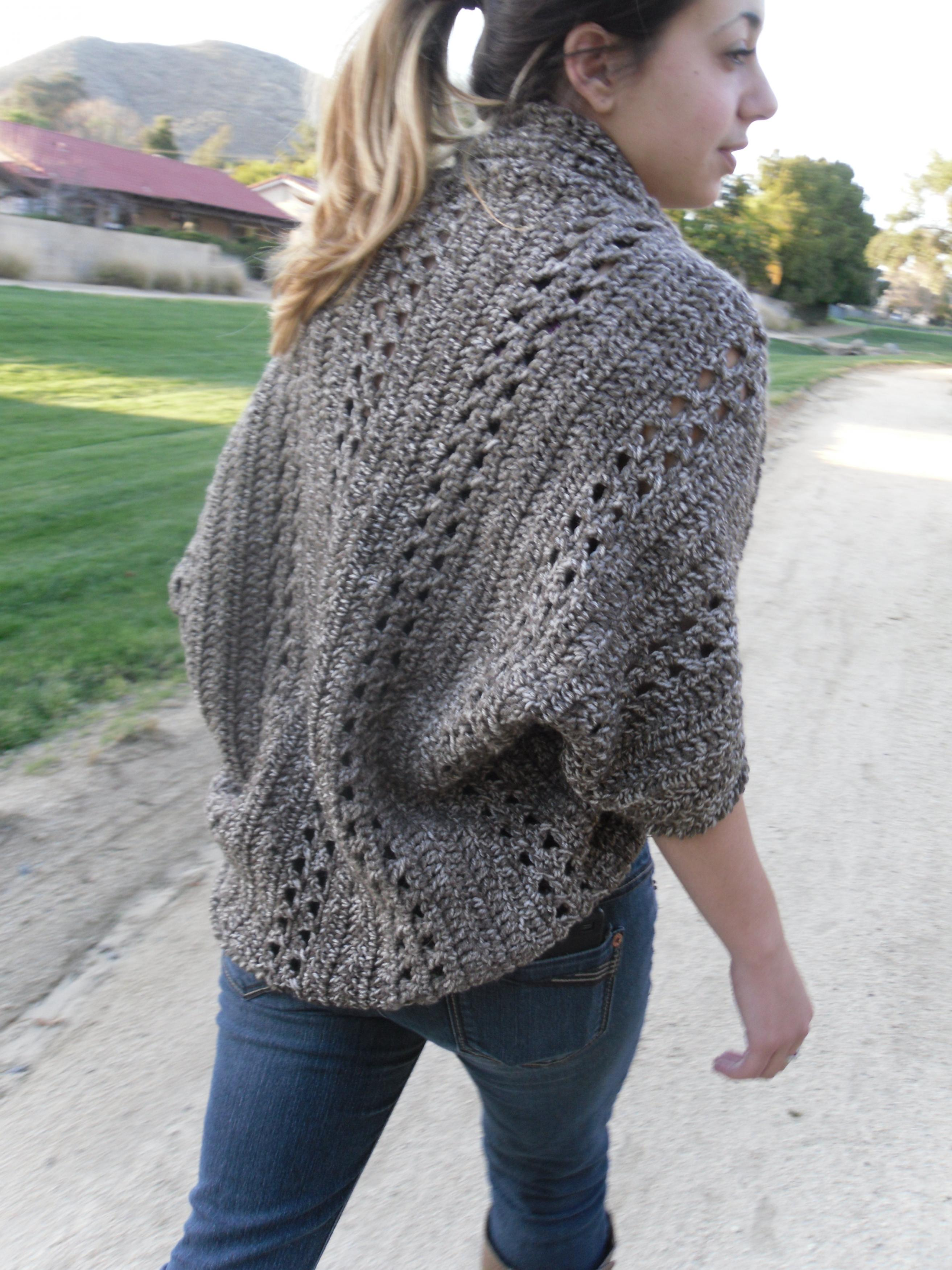 Shrug Cardigan Shawl W/Sleeves Easy/Beginner CROCHET PDF PATTERN on ...